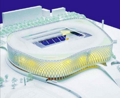 futur stade vélodrome, vue d'ensemble