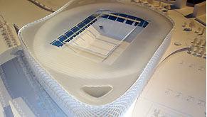 maquette du futur stade de l'OM